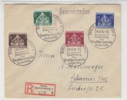 R-Satzbrief Mit 617/20 Mit Passendem Sonderstempel Aus BERLIN-CHARLOTTENBURG 16.6.36 Nach Schwerin - Briefe U. Dokumente