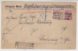 Briefvorderseite Mit 41, 43 Mit Kastenstempel Wüste-Waltersdorf Reg.Bz.Breslau 6.4.89 - Allemagne