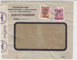 Zensurbrief Aus ZAGREB 23.9.41 - Occupation 1938-45