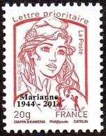France Marianne De La Jeunesse Par Ciappa Et Kawena N° 4767_ba ** TVP Rouge 20g. Taille Douce Sans Phosphore Surchargé - 2013-... Marianne De Ciappa-Kawena