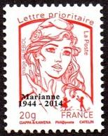 France Marianne De La Jeunesse Par Ciappa Et Kawena N° 4767_be ** TVP Rouge 20g. Héliogravure Sans Phosphore Surchargé - 2013-... Marianne De Ciappa-Kawena