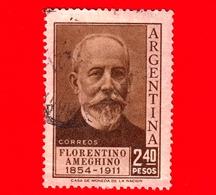 ARGENTINA - Usato -  1956 - Florentino Ameghino (1854-1911) - 2.40 - Argentina