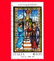 ITALIA - Usato - 2016 - Le Ricorrenze: San Valentino - Vetrata Terni - Festa Innamorati - Sabino E Serapia - 0,95 - 6. 1946-.. Repubblica