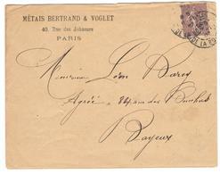 14162 - Semeuse  Lignée  20 C - Marcophilie (Lettres)