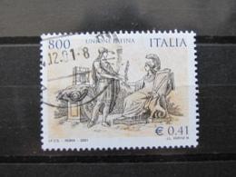 *ITALIA* USATI 2001 - UNIONE LATINA - SASSONE 2571 - LUSSO/FIOR DI STAMPA - 6. 1946-.. Repubblica
