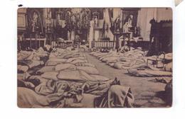 GUERRE 14 18 WW1 Carte Allemande German Soldiers Sleeping Graide Inneres Der Kirche - War 1914-18