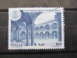 *ITALIA* USATI 2001 - UNIVERSITA' STUDI PAVIA - SASSONE 2569 - LUSSO/FIOR DI STAMPA - 6. 1946-.. Repubblica