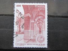 *ITALIA* USATI 2001 - UNIVERSITA' STUDI BARI - SASSONE 2568 - LUSSO/FIOR DI STAMPA - 6. 1946-.. Repubblica