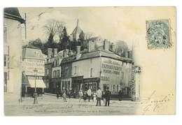 CPA 51 SAINTE-MENEHOULD L'EGLISE DU CHATEAU VUE DE LA PLACE - Sainte-Menehould
