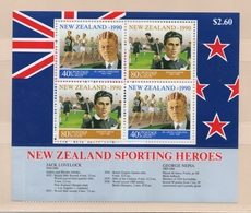 1990 New Zealand Health Minisheet Mint Not Hinged S.G. No. MS 1561 Sportsmen - Neufs