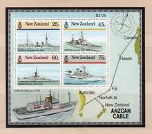 1985 New Zealand ANZCAN CABLE Mint Not Hinged S.G. No. MS 1383 SOUVENIR SHEET - Nouvelle-Zélande