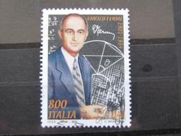 *ITALIA* USATI 2001 - CENT ENRICO FERMI - SASSONE 2566 - LUSSO/FIOR DI STAMPA - 6. 1946-.. Repubblica
