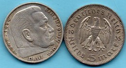 A/  GERMANY  3° REICH    5  MARK 1935 A  Silver / Argent KM#86 - [ 4] 1933-1945 : Troisième Reich
