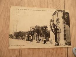 CPA 07 Ardèche Saint Julien En Saint Alban Place De La Mairie  TBE - France