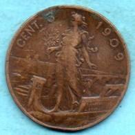 T10/ ITALIE ITALY  5 Centesimi 1909   VITT EM III  KM#42 - 1861-1946 : Royaume