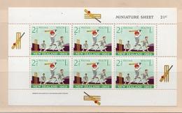 1969 NEW ZEALAND HEALTH SPORTS MINISHEET MNH S.G. No. BF25 SOUVENIR SHEET CRICKET - Cricket