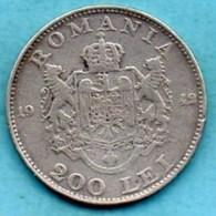 (r65)  ROUMANIE   200 Lei 1942 Silver KM#63 - Roumanie