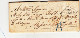 Odessa Per Alessandria D'Egitto, Lettera Non Affrancata Con Contenuto 20 Maggio 1860 - Briefe U. Dokumente