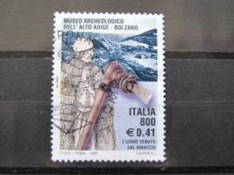 *ITALIA* USATI 2001 - MUSEO ARCHEOLOGICO ALTO ADIGE - SASSONE 2564 - LUSSO/FIOR DI STAMPA - 6. 1946-.. Repubblica