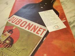ANCIENNE PUBLICITE BOISSON DUBONNET ET MELODIE DU MONDE 1960 - Advertising
