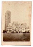 Belgique / MALINES, Tour St Rambeau Et La Cathédrale : PHOTO Albuminée, Contrecollée Sur Carton Fort, Fin 19 ème Siècle. - Photos