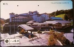 Telefonkarte Japan - Werbung - Gebäude  - 110-016 - Japan