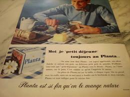 ANCIENNE PUBLICITE  PETIT DEJEUNE  MARGARINE PLANTA  1960 - Affiches
