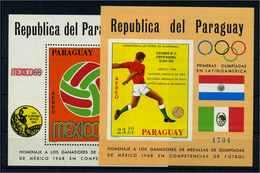 PARAGUAY 1968 Bl.128-129 Postfrisch (105067) - Paraguay