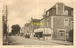 35 St Malo, Courtoisville, Avenue Pasteur, Café Cloares, Tacots...., Belle Carte Pas Courante - Saint Malo