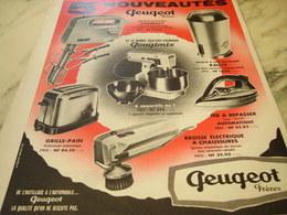 ANCIENNE  PUBLICITE PEUGIMIX DE PEUGEOT FRERE 1960 - Publicité