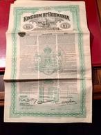 KINGDOM  OF  ROUMANIA   --------Obligation  De  10 £ - Shareholdings