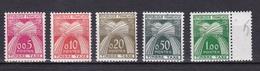 FRANCE TIMBRE TAXE TYPE GERBES DE 1960 N° 90 A 94  SERIE COMPLETE ** - Segnatasse