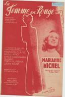 (GEO1) LA FEMME EN ROUGE , MARIANNE MICHEL , Paroles JEAN GUIGO , Musique LOUIS GASTE - Partitions Musicales Anciennes