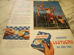 ANCIENNE PUBLICITE PATE ALIMENTAIRE OEUFS FRAIS LUSTUCRU 1960 - Affiches