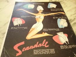 ANCIENNE PUBLICITE 3 FOIS PLUS EXTENSIBLE GAINE SCANDALE  1960 - Habits & Linge D'époque