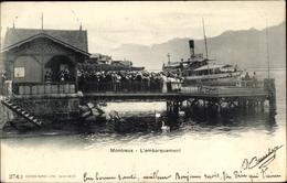 Cp Montreux Kt. Waadt Schweiz, L'Embarquement - VD Vaud