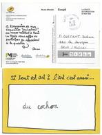 Exposition Tout Est Art - Carte Postale En Dispense De Timbrage - Moderne