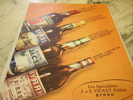 ANCIENNE PUBLICITE BYRRH -BYREL-MOGOA -JACSI 1960 - Alcools