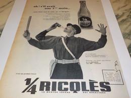 ANCIENNE PUBLICITE MENTHE LEGERE DE RICQLES  1960 - Affiches