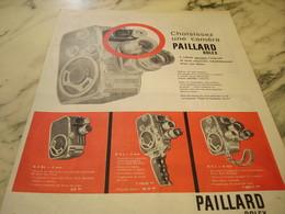 ANCIENNE PUBLICITE CAMERA LA BOLEX  DE PAILLARD   1960 - Photographie