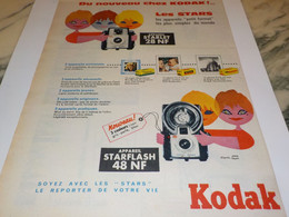 ANCIENNE  PUBLICITE NOUVEAU STARLET AVEC KODAK    1960 - Photographie