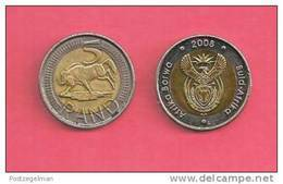 SOUTH AFRICA  2008 Nicely Used 5 Rand Coin Nr. 166C, C1329 - South Africa