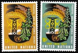 UNO NEW YORK 1977 Mi-Nr. 313/14 ** MNH - New York -  VN Hauptquartier