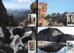 RSA, 1986, Mint Maxi Cards, MI Nr. 51-54,  Rocks - South Africa (1961-...)