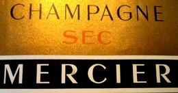 Rare étiquette De Champagne MERCIER Sec Et Non Brut Bon état Frais De Port Suivi Pour La France : 1€25 - Champagne