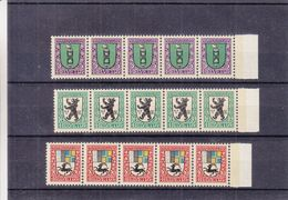 Armoiries - Suisse - Yvert 218 / 20 ** - MNH - Bande De 5 - Valeur 17,50 Euros - Timbres