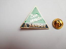 Beau Pin's , Laboratoires Sandoz Ben Venuto  , Agriculture , Nature , Signé WST Basel - Badges