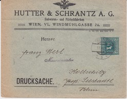 Österreich Austria Privatganzsache PU 2 H Tuch Hutter & Schrantz Wien 1913 - Ganzsachen