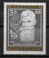 AUTRICHE     N° 1661 * *    Hans Horbiger Inventeurde La Soupape En Acier Pour Compresseur - Usines & Industries