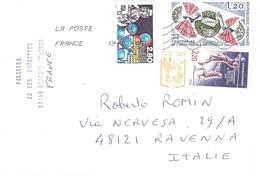 LETTERA X ITALY CON CHAMPIONAT DU MONDE DE VOLLEY 1986 - Pallavolo